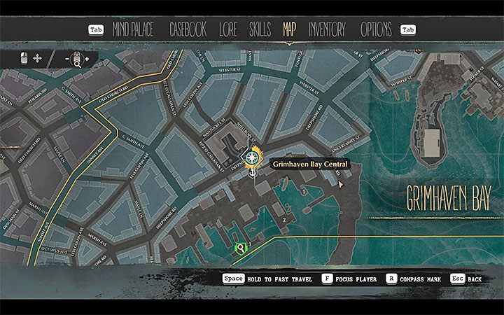 Once the game opens the world map, select a different point as a quick travel destination (you must have at least two phone booths unlocked) - How to unlock quick travel in The Sinking City? - FAQ - The Sinking City Guide