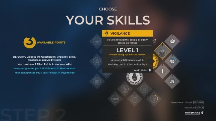 Skill trees in The Council   Gameplay basics - The Council Game