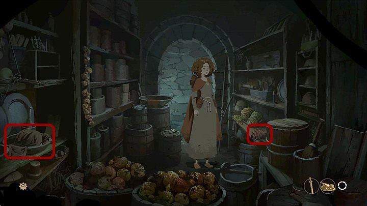 Most of the food here is rotten and uneatable - Prologue - Earlscastle (Alienas chamber; yard; pantry; fortress) - Book Two: Sowing the Wind - The Pillars of the Earth Game Guide