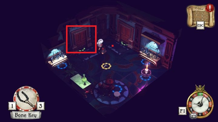 You will enter a room seen on the picture - Learn the arcane knowledge | Willow Blue - Willow Blue - The Sexy Brutale Game Guide