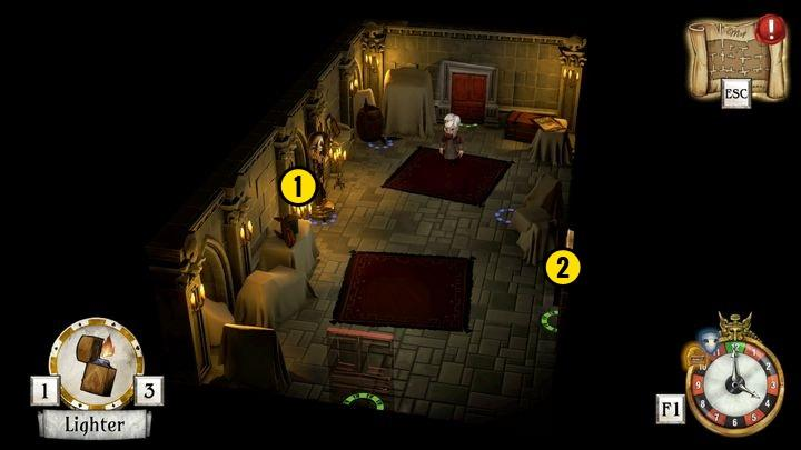 After entering the back room move as fast as you can to the room shown in the picture above - Activate the first starting point | Thanos Gorecki & Aurum Runes - Thanos Gorecki & Aurum Runes - The Sexy Brutale Game Guide