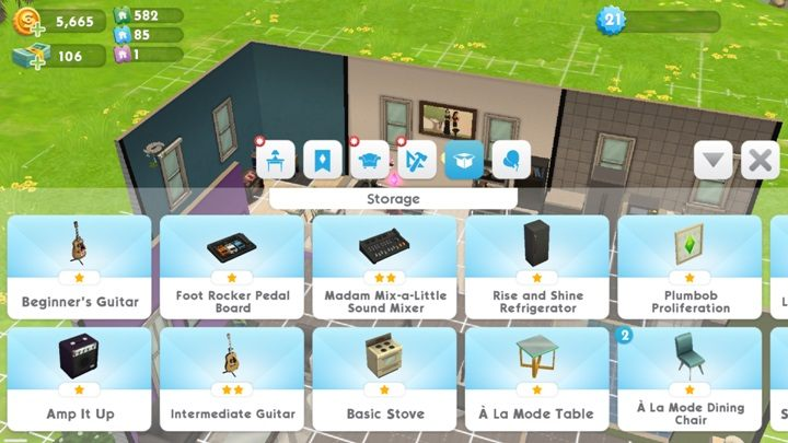 the sims mobile sell furniture