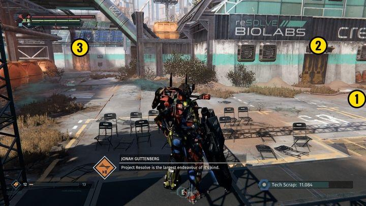 Starting from the position presented in the picture [1], go right and collect the weapon - Resolve BioLab | Walkthrough - Walkthrough - The Surge Game Guide