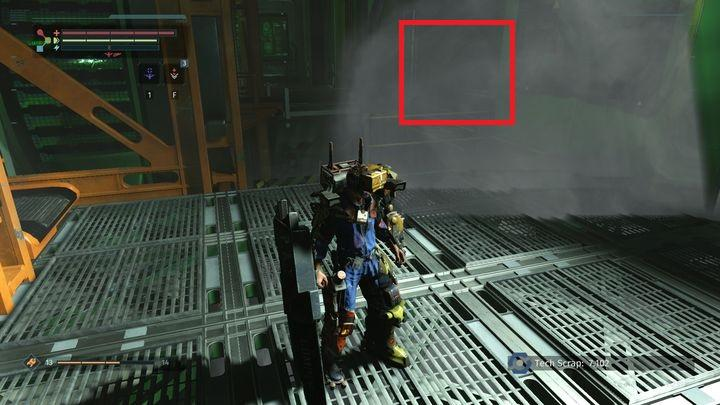 On the right [2] there will be 4-5 opponents and if you choose this path, you will reach another part of the location - Ventilation Tower | Walkthrough - Walkthrough - The Surge Game Guide