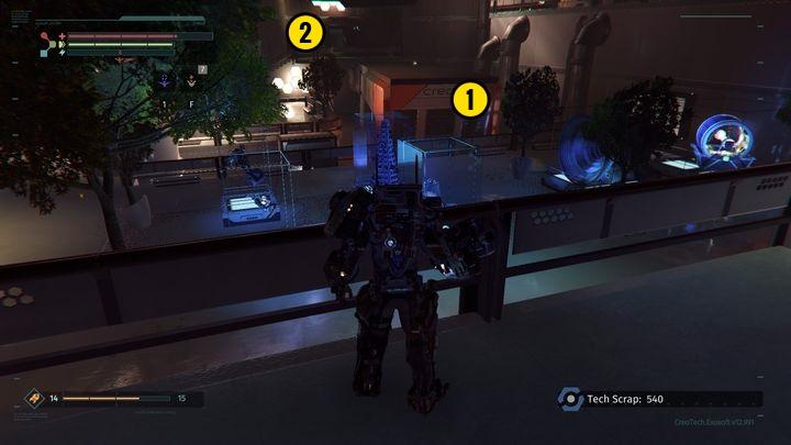Once at the top, head towards the Medical Station [1] - Research Zone | Walkthrough - Walkthrough - The Surge Game Guide