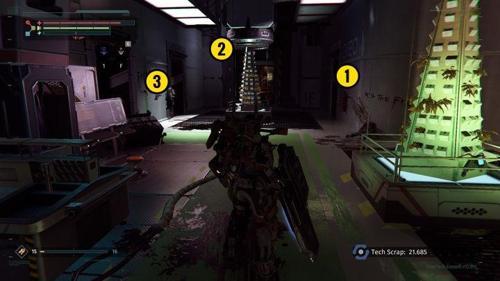 Enter the room and face two more opponents - Research Zone | Walkthrough - Walkthrough - The Surge Game Guide