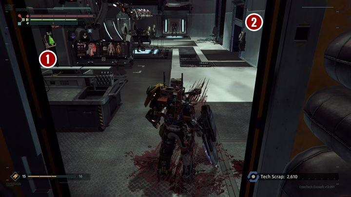 In lab 01, enemies wont attack you, until you break one of the cabinets - Research Zone | Walkthrough - Walkthrough - The Surge Game Guide