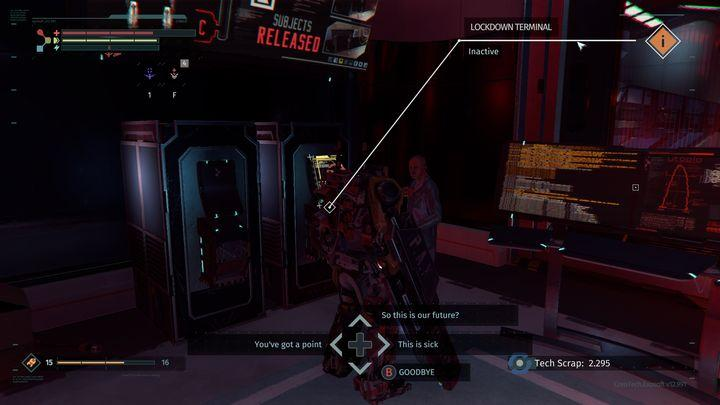 Once the fight is over, use the door your enemy walked through, and move left - Research Zone | Walkthrough - Walkthrough - The Surge Game Guide