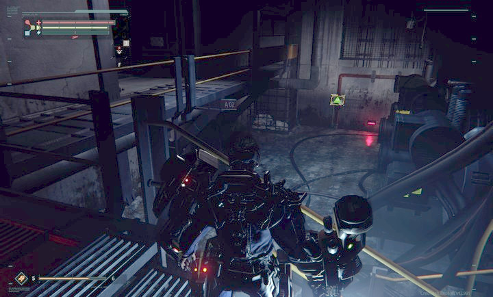 Once in the building, go downstairs and then to the right through the door - Abandoned Production | Walkthrough - Walkthrough - The Surge Game Guide