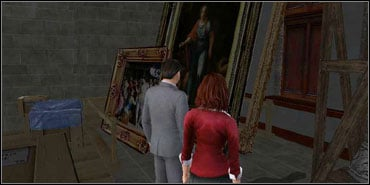 Go all the way back to Mona Lisa room and sneak to the left side of the painting - The Louvre - Walkthrough - The Da Vinci Code - Game Guide and Walkthrough