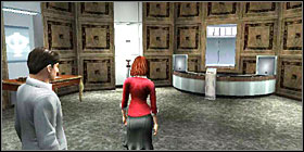 Move to the next room and use the key on another terminal - Bank of Zurich - Walkthrough - The Da Vinci Code - Game Guide and Walkthrough