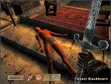 On the fourth level, you'll be caught in a boss fight with Azani Blackheart - Fighters Guild part III - The Guilds quests - The Elder Scrolls IV: Oblivion - Game Guide and Walkthrough
