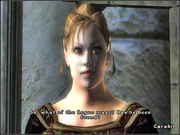 After a short walk, you'll be ambushed by Caminalda, who turns out to be the murderer - Mages Guild part I - The Guilds quests - The Elder Scrolls IV: Oblivion - Game Guide and Walkthrough