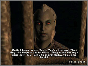 When you enter your old cell (ahh, memories), wait for the guard to finish talking to Valen - Dark Brotherhood part I - The Guilds quests - The Elder Scrolls IV: Oblivion - Game Guide and Walkthrough