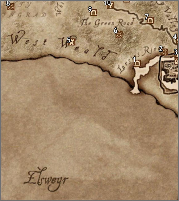 1 - Bloodmayne Cave - Map Segment #4 - Province of Cyrodiil - The Elder Scrolls IV: Oblivion - Game Guide and Walkthrough