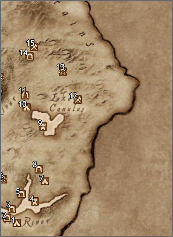 1 - Seran Camp - Map Segment #11 - Province of Cyrodiil - The Elder Scrolls IV: Oblivion - Game Guide and Walkthrough