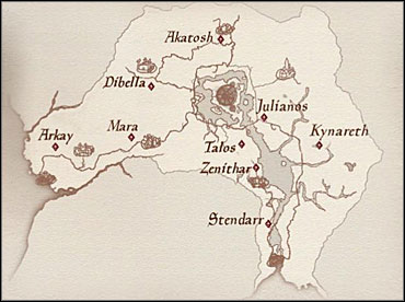 The map that the Prophet gave you (shown above) lacks accuracy - Pilgrimage - Knights of the Nine - The Elder Scrolls IV: Oblivion - Game Guide and Walkthrough