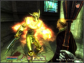 Once you're back to the chapel, you'll see it's being attacked by Umaril's minions - The Path of Righteous - Knights of the Nine - The Elder Scrolls IV: Oblivion - Game Guide and Walkthrough