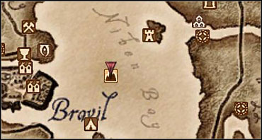 The red arrow marks the portal's location. - Main Quests part I - Quests - The Elder Scrolls IV: Oblivion - Game Guide and Walkthrough