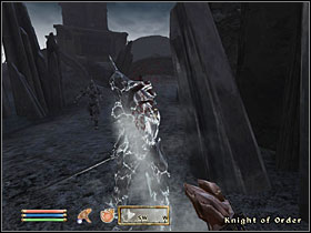 After defeating three waves of Knights of Order, you'll be sent on a quest to the nearby ruins of Xeddefen - Main Quests part II - Quests - The Elder Scrolls IV: Oblivion - Game Guide and Walkthrough