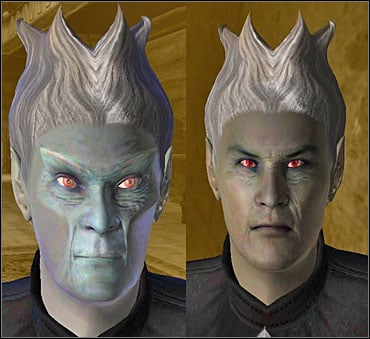 The same character in the last stage of vampirism and completely free of the disease. You guess which is which. - Hints and peculiarities - Other - The Elder Scrolls IV: Oblivion - Game Guide and Walkthrough