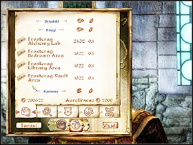 Talk to Aurelinwae and buy all expansion packages: Alchemy Lab, Bedroom Area, Library Area, and Vault Area - Frostcrag Spire - Plug-ins - The Elder Scrolls IV: Oblivion - Game Guide and Walkthrough