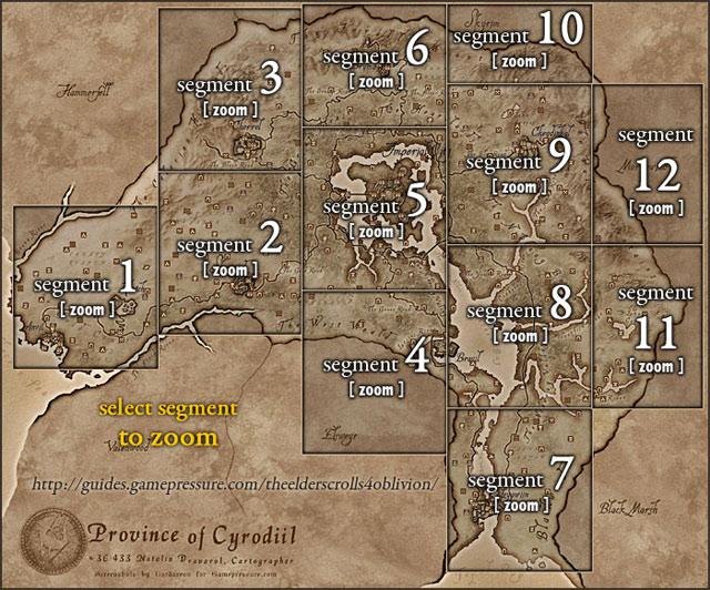 Cyrodiil navigation map | province of cyrodiil the elder scrolls.