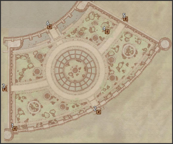 1 - South Watch Tower - Imperial City Arboretum - City maps - The Elder Scrolls IV: Oblivion - Game Guide and Walkthrough