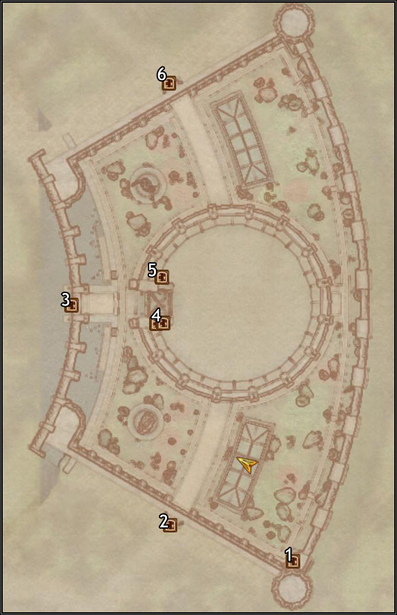 1 - Southeast Watch Tower - Imperial City Arena - City maps - The Elder Scrolls IV: Oblivion - Game Guide and Walkthrough
