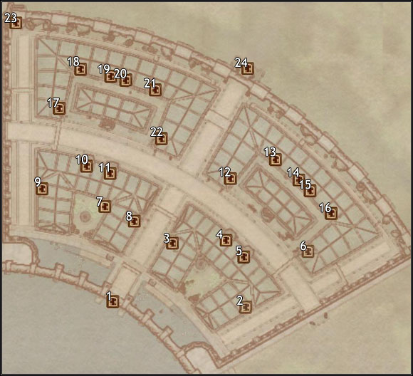1 - Green Emperor Way - Imperial City Market District - City maps - The Elder Scrolls IV: Oblivion - Game Guide and Walkthrough