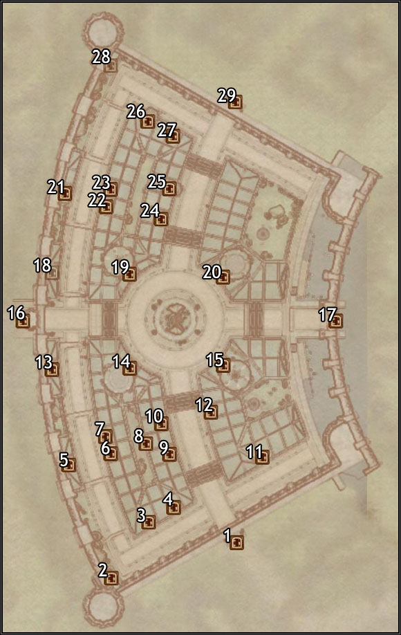 1 - Temple District - Imperial City Talos Plaza - City maps - The Elder Scrolls IV: Oblivion - Game Guide and Walkthrough