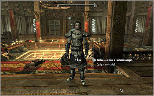 Enter the sanctuary, where Vilkas should run up to you (screen above) - Bloods Honor - The Companions quests - The Elder Scrolls V: Skyrim Game Guide