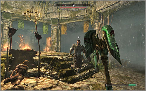 After reaching the last room, try to deal with standard hunters first and then start attacking Krev the Skinner (screen above) - The Silver Hand - The Companions quests - The Elder Scrolls V: Skyrim - Game Guide and Walkthrough