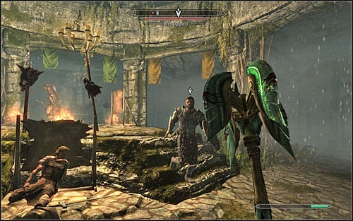 After reaching the last room, try to deal with standard hunters first and then start attacking Krev the Skinner (screen above) - The Silver Hand - The Companions quests - The Elder Scrolls V: Skyrim Game Guide