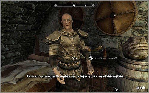 Depending on time of the day, you can find Skjor in the main chamber of the Jorrvaskr sanctuary or in the living quarters in Jorrvaskr - The Silver Hand - The Companions quests - The Elder Scrolls V: Skyrim - Game Guide and Walkthrough