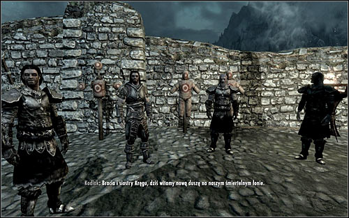 Follow Vilkas, who will run to the courtyard on back of the Jorrvaskr - Proving Honor - p. 2 - The Companions quests - The Elder Scrolls V: Skyrim Game Guide