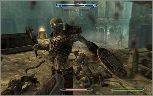 Among the draugr youll find high ranked restless draugr, who is the strongest one (screen above) - Proving Honor - p. 2 - The Companions quests - The Elder Scrolls V: Skyrim Game Guide