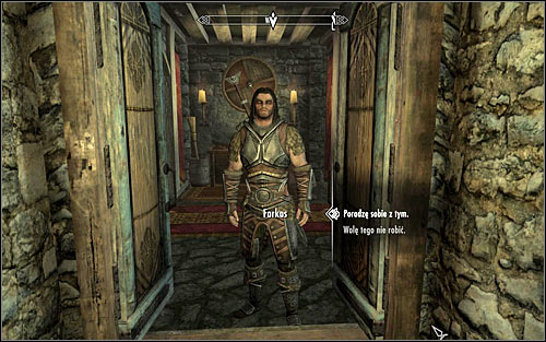 Follow Farkas, who will lead you to a room for recruits, located in the southern part of living quarters in Jorrvaskr - Take up Arms - The Companions quests - The Elder Scrolls V: Skyrim Game Guide
