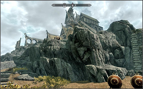 Eorlunds forge is not located inside the sanctuary, but on a small hill, north from this building (screen above) - Take up Arms - The Companions quests - The Elder Scrolls V: Skyrim Game Guide