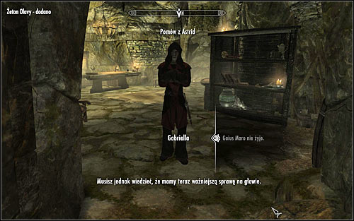 This sidequest can be obtained after completing the quest Breaching Security, during final conversation with Gabriella - Miscellaneous: Receive a reading from Olava the Feeble - The Dark Brotherhood quests - The Elder Scrolls V: Skyrim Game Guide