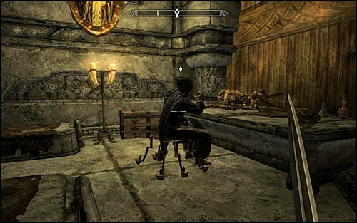 Be very careful, because you are in the mage Malurils chamber - Side Contract: Kill Maluril - The Dark Brotherhood quests - The Elder Scrolls V: Skyrim Game Guide