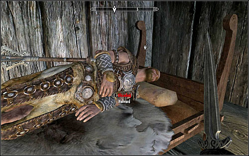 It is much better to stay in jarls house and wait until the night, because Helvard should go to his room on the floor to get a rest - Side Contract: Kill Helvard - The Dark Brotherhood quests - The Elder Scrolls V: Skyrim Game Guide