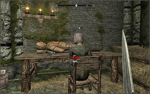 Regardless of how youve reached Agniss bedroom, she should lie in her bed or sit on the chair - Side Contract: Kill Agnis - The Dark Brotherhood quests - The Elder Scrolls V: Skyrim Game Guide