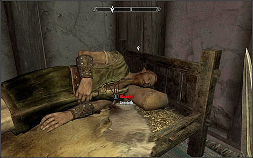 Enter the inn and find the hunter in one of the side rooms - Side Contract: Kill Anoriath - The Dark Brotherhood quests - The Elder Scrolls V: Skyrim Game Guide