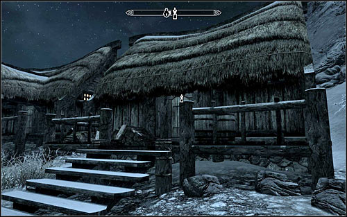 It is much better to wait until night, because Beitild should go then to sleep to her hut near the water (screen above) - Side Contract: Kill Beitild - The Dark Brotherhood quests - The Elder Scrolls V: Skyrim Game Guide