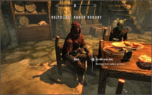 This quest appears in your journal if youve injured or killed (intentionally or unintentionally) one of the Dark Brotherhood members - Honor Thy Family - The Dark Brotherhood quests - The Elder Scrolls V: Skyrim Game Guide