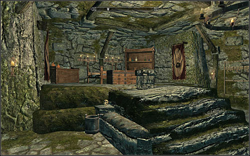 After buying the Master Bedroom, one of the chambers in the Brotherhood hideout will get a large bed and many valuable items (screen above) - Where You Hang Your Enemys Head - The Dark Brotherhood quests - The Elder Scrolls V: Skyrim Game Guide