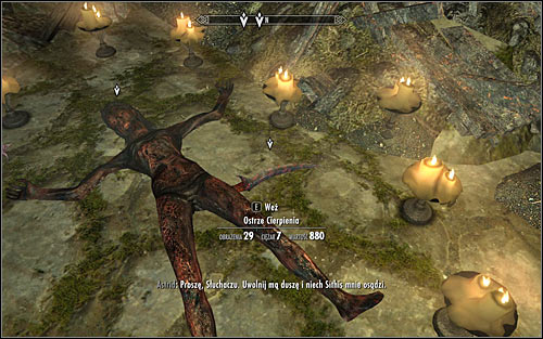 Look for the Blade of Woe lying next to Astrid and pick it up (screen above) - Death Incarnate - The Dark Brotherhood quests - The Elder Scrolls V: Skyrim Game Guide