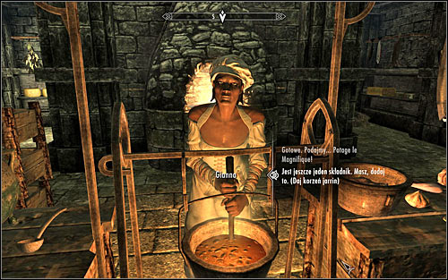 Since Gianna doesnt know the exact method of preparing the dish according to the Gourmets recipe, she will periodically ask you for ingredients - To Kill an Empire - The Dark Brotherhood quests - The Elder Scrolls V: Skyrim Game Guide