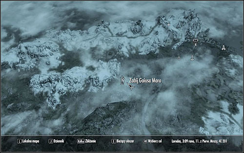 Leave the Dark Brotherhoods Sanctuary and open the world map - Breaching Security - The Dark Brotherhood quests - The Elder Scrolls V: Skyrim Game Guide